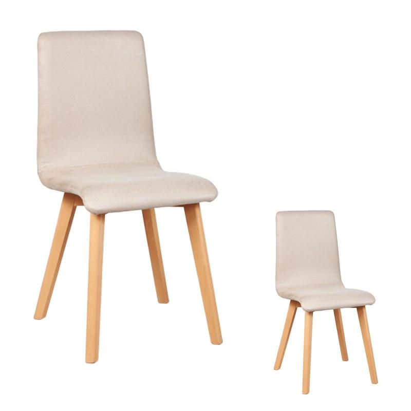 Duo de chaises Microfibre Beige VOLANTE - Univers des Assises et Salle à Manger : Tousmesmeubles