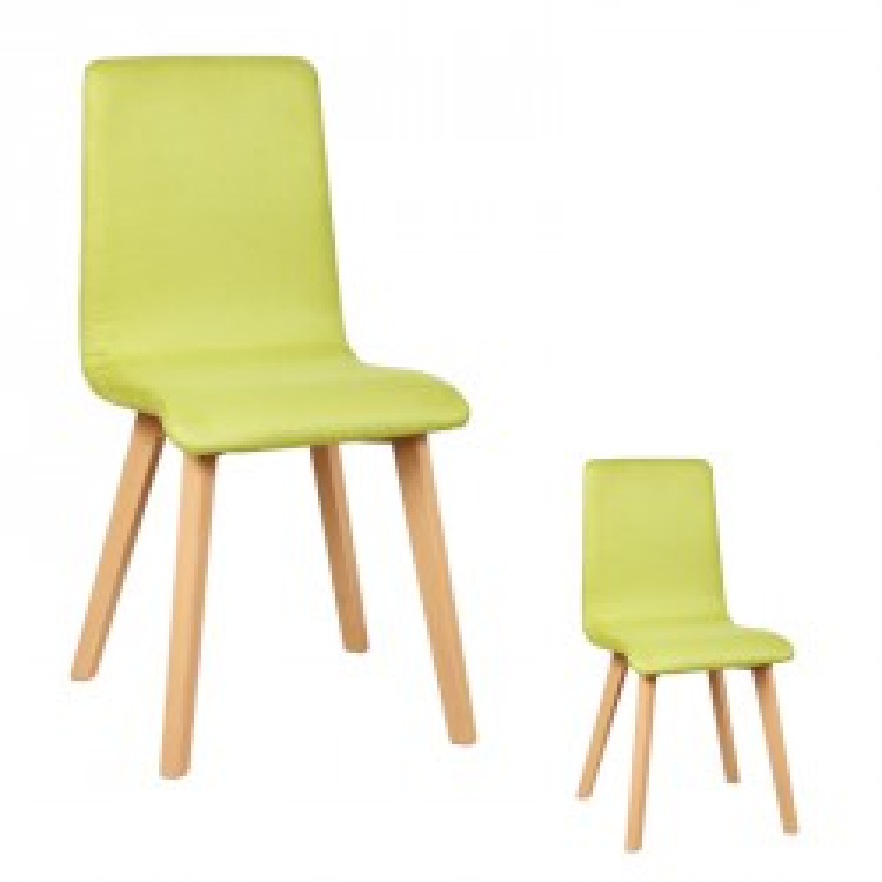 Duo de chaises Microfibre Verte VOLANTE - Univers des Assises et Salle à Manger : Tousmesmeubles