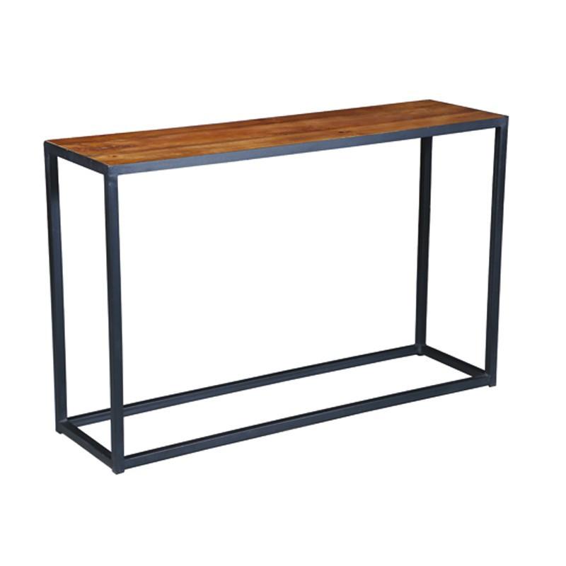 Console en Acier et bois de Palissandre DENVER - Univers des Petits meubles : Tousmesmeubles
