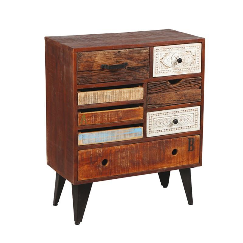 Commode 8 tiroirs en bois de Palissandre DENVER - Univers de la Chambre : Tousmesmeubles