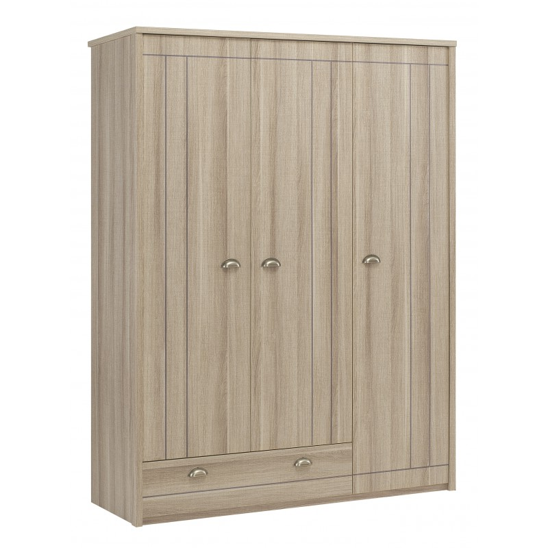 armoire 3 portes zanzibar univers de la chambre. Black Bedroom Furniture Sets. Home Design Ideas