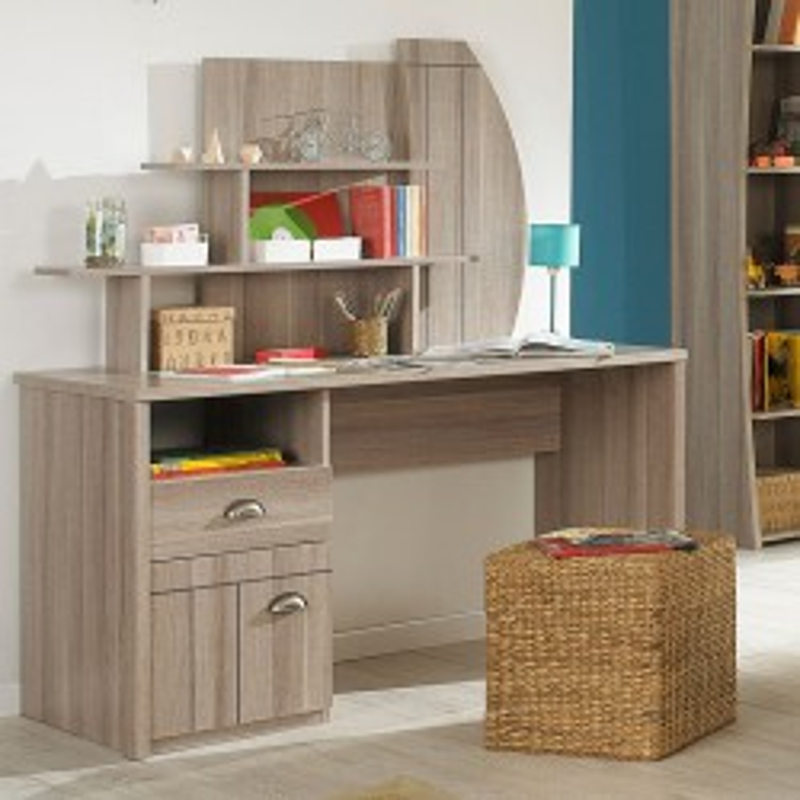 Bureau 1 porte 1 tiroir + surmeuble - ZANZIBAR