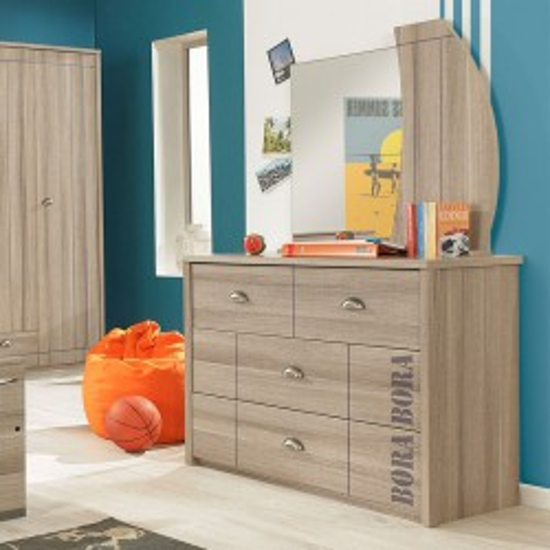 Commode 3 tiroirs + Miroir - ZANZIBAR