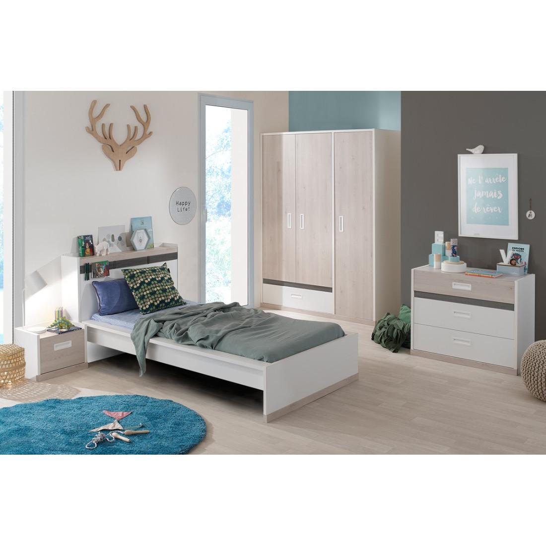 lit 1 place 120x200 cm eden univers de la chambre tousmesmeubles. Black Bedroom Furniture Sets. Home Design Ideas