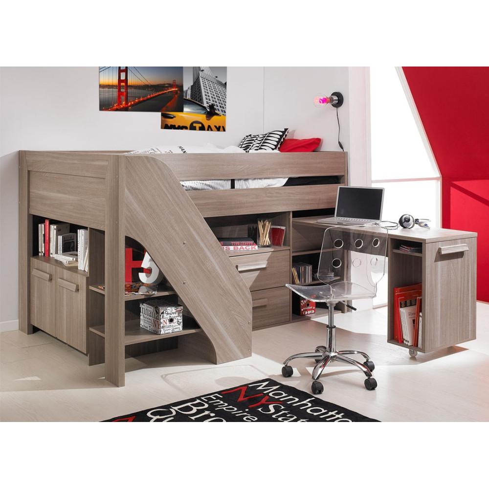 lit mezzanine et matelas micka univers chambre tousmesmeubles. Black Bedroom Furniture Sets. Home Design Ideas