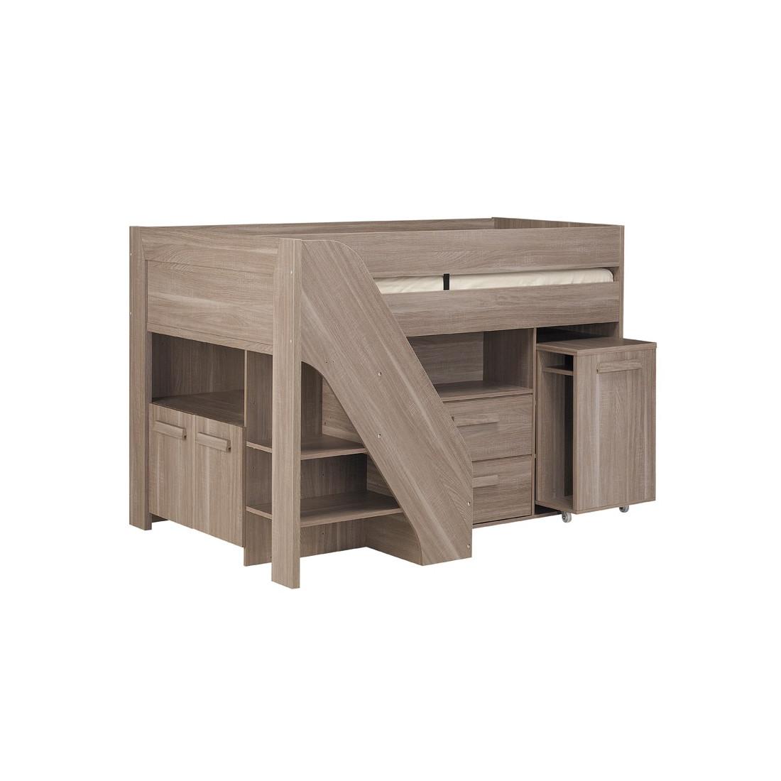 lit mezzanine am nag 1 place micka univers chambre tousmesmeubles. Black Bedroom Furniture Sets. Home Design Ideas