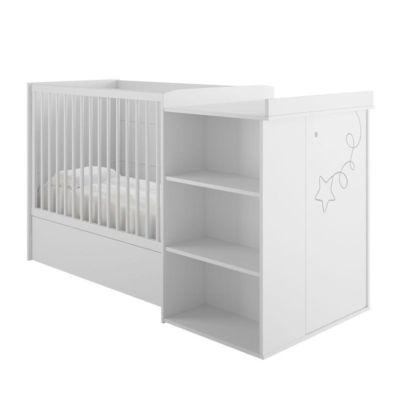 Lit compact Chambre de Bébé + matelas - NOA