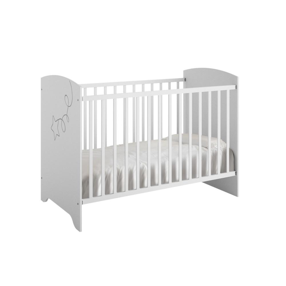 Lit Bébé à barreaux pour chambre de Puériculture NOA - Univers Chambre : Tousmesmeubles