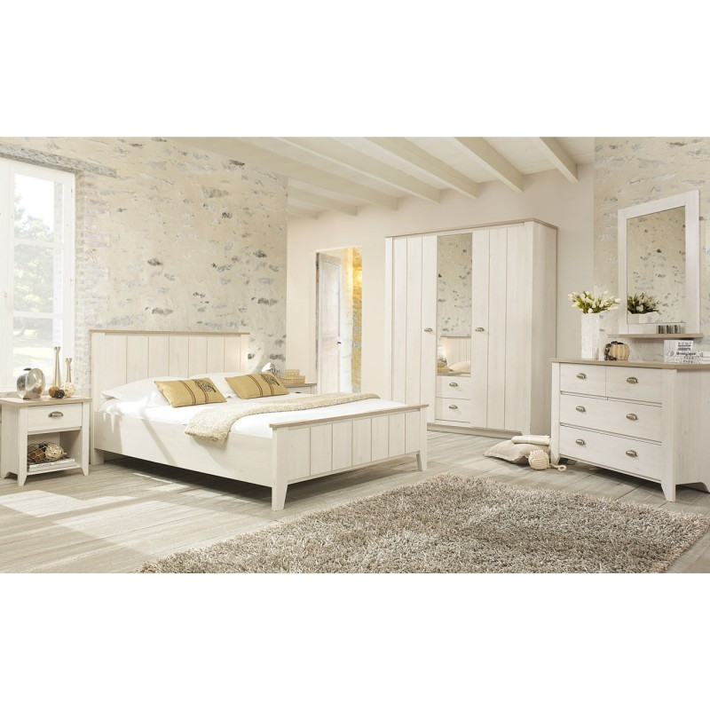 cadre t te de lit 140 190 helene univers chambre tousmesmeubles. Black Bedroom Furniture Sets. Home Design Ideas
