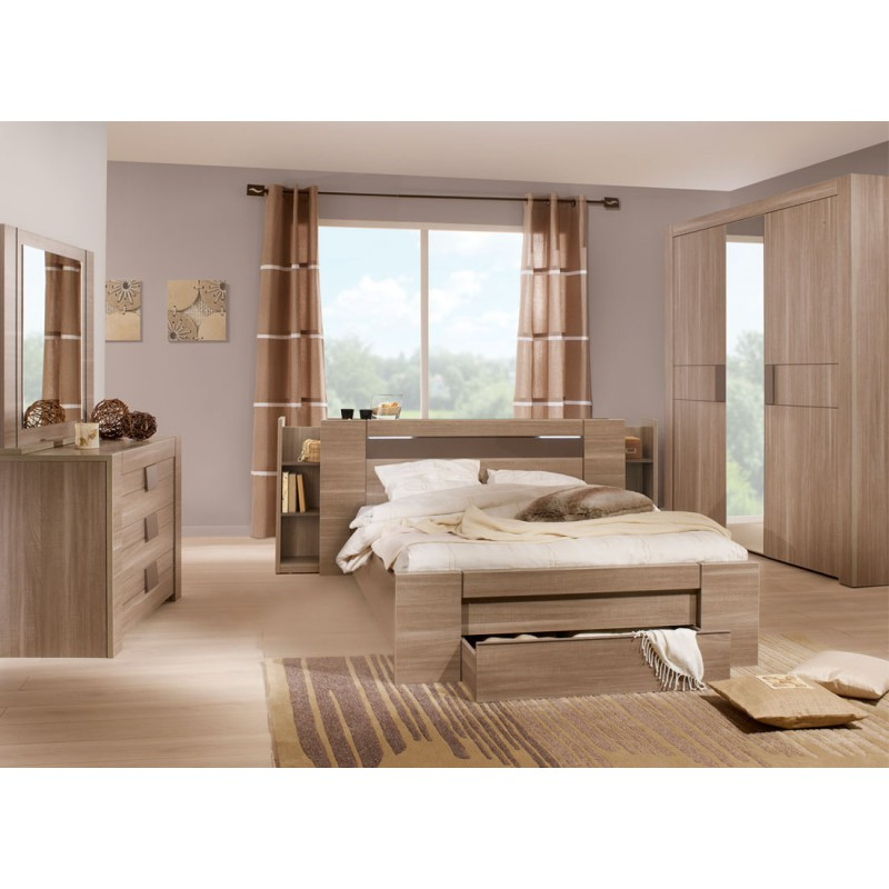 chambre compl te 140 190 macao n 2 univers chambre. Black Bedroom Furniture Sets. Home Design Ideas