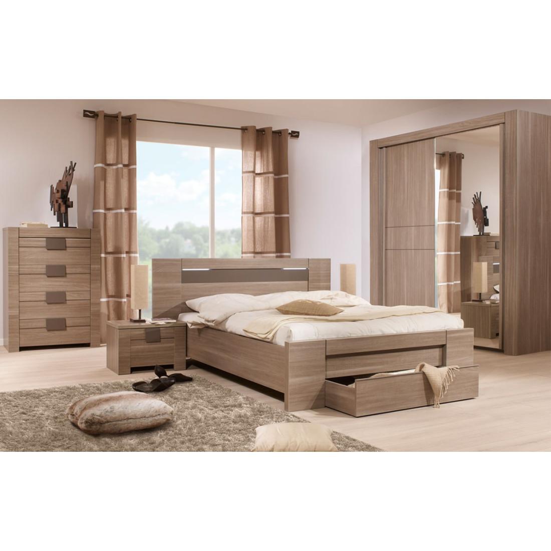 cadre t te de lit 160 200 macao univers chambre tousmesmeubles. Black Bedroom Furniture Sets. Home Design Ideas