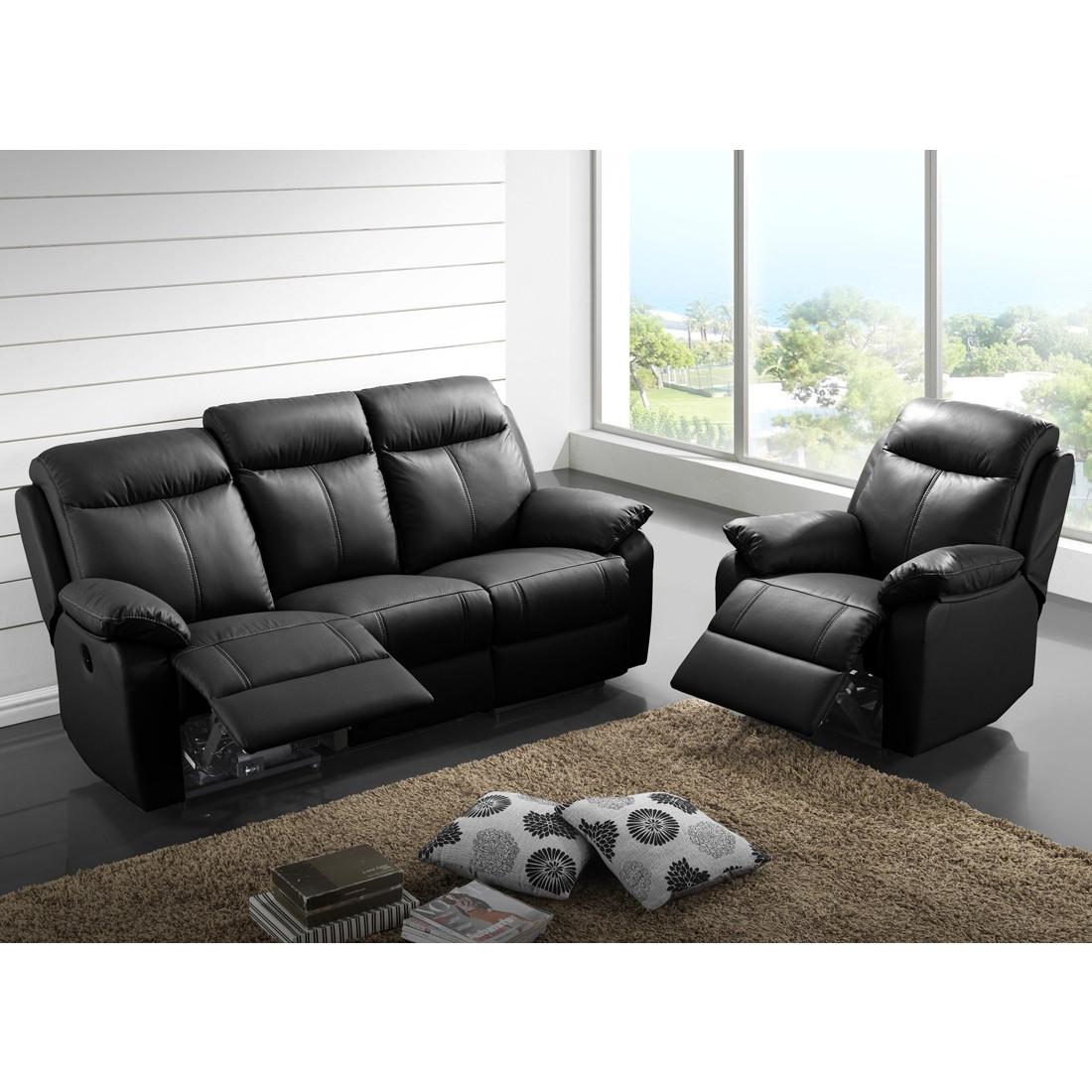 canap relax lectrique 3 places fauteuil relax. Black Bedroom Furniture Sets. Home Design Ideas