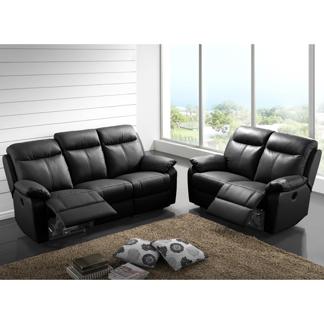 canap relax lectrique 3 places canap relax lectrique 2 places cuir vyctoire univers des. Black Bedroom Furniture Sets. Home Design Ideas