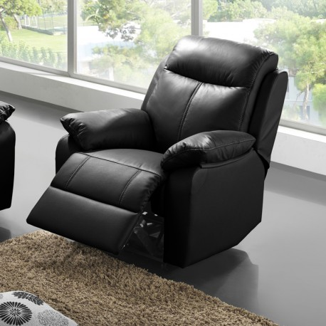 fauteuil relax lectrique cuir vyctoire univers des assises tousmesmeubles. Black Bedroom Furniture Sets. Home Design Ideas