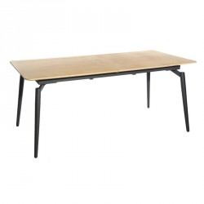 Table de repas à allonge scandinave plateau bois naturel - Univers Salle à Manger : Tousmesmeubles