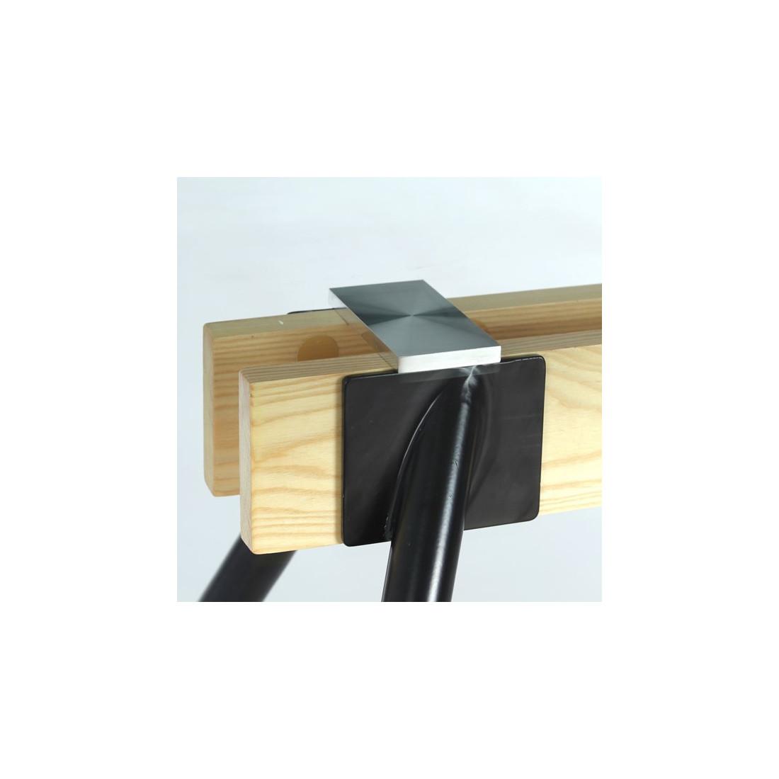 table basse en verre et bois brutus univers salon tousmesmeubles. Black Bedroom Furniture Sets. Home Design Ideas