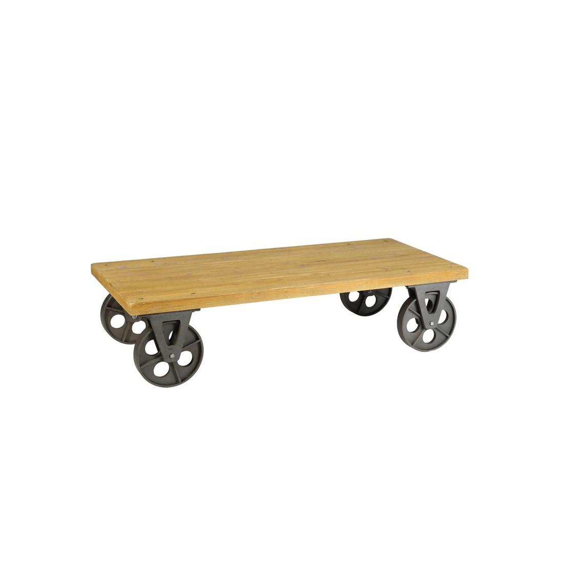 table basse sur roulettes brutus univers salon. Black Bedroom Furniture Sets. Home Design Ideas