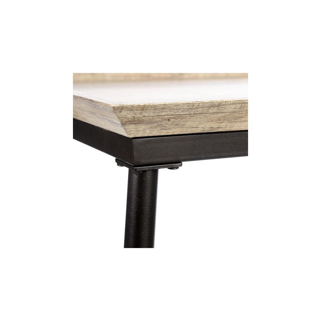Table basse m tal bois antique brutus univers salon - Table basse metal et bois ...
