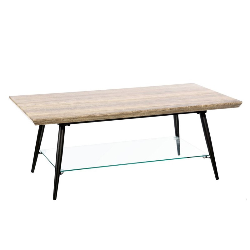 Table basse m tal bois verre brutus univers salon for Table basse metal bois