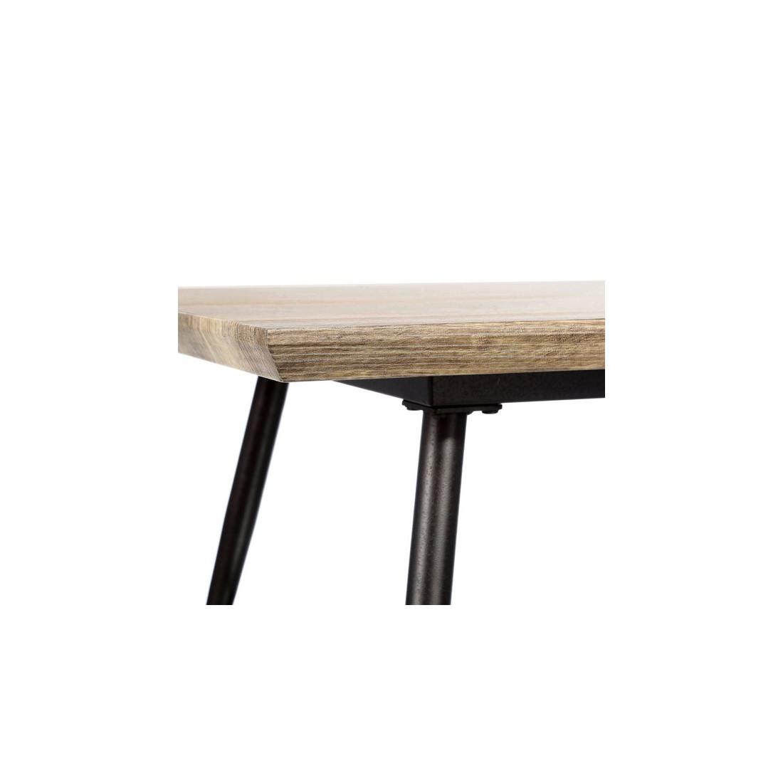 table basse m tal bois verre brutus univers salon tousmesmeubles. Black Bedroom Furniture Sets. Home Design Ideas