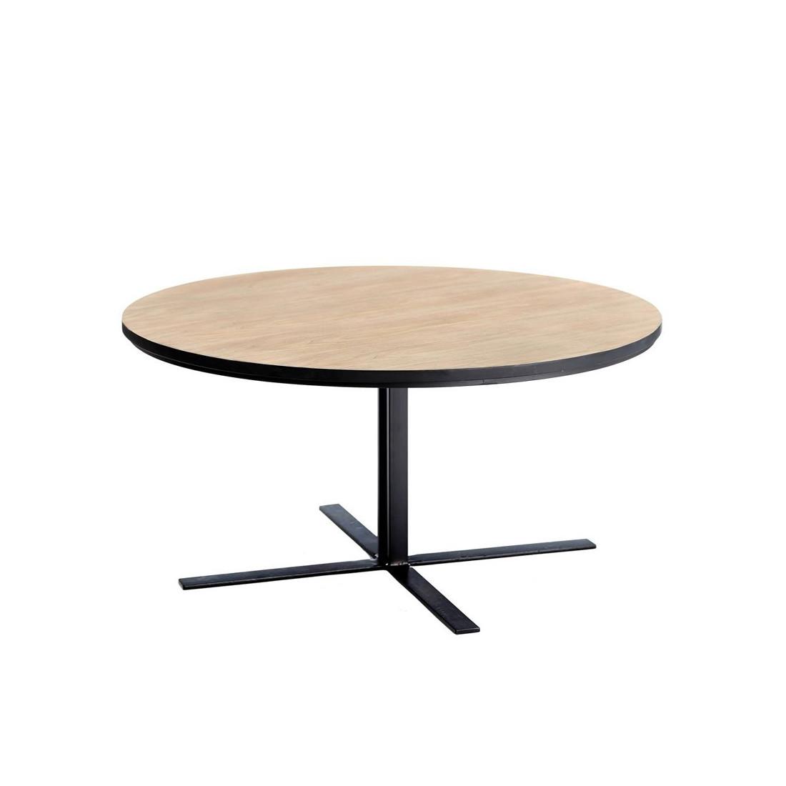 Table basse ronde brutus univers du salon tousmesmeubles - Table basse salon ronde ...