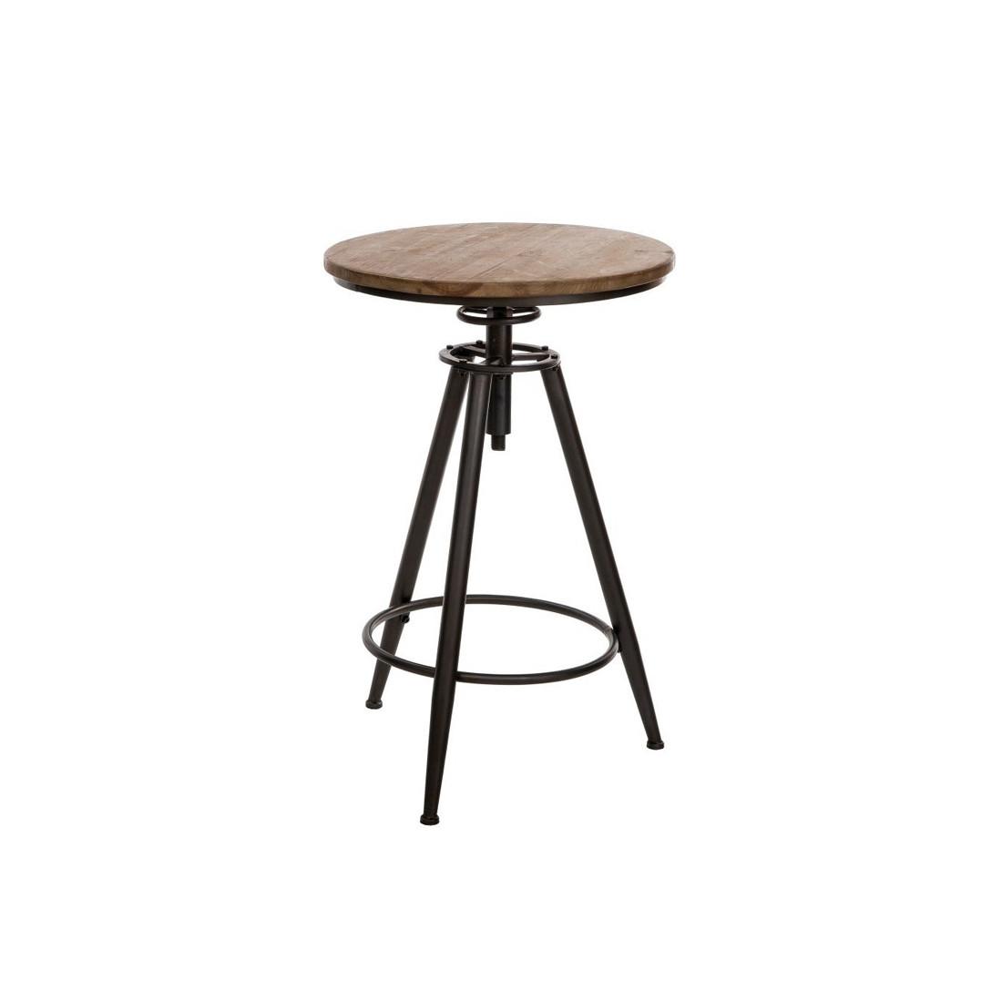 Table ronde mange debout brutus univers des petits meubles - Table d appoint industriel ...