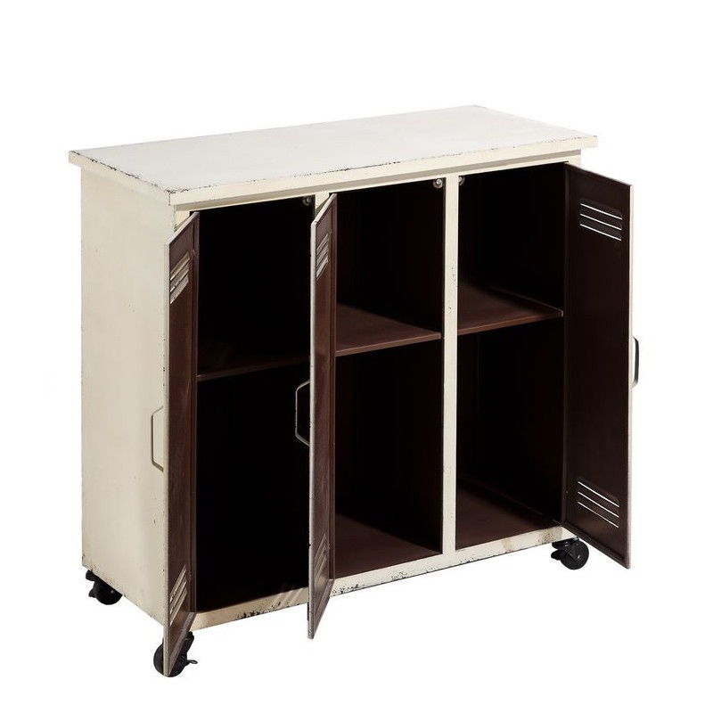 armoire 3 portes sur roulettes tousmesmeubles. Black Bedroom Furniture Sets. Home Design Ideas