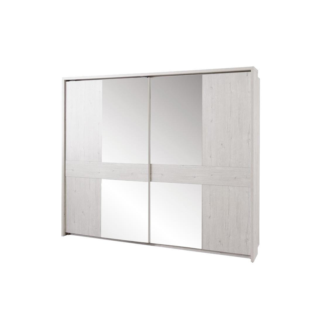 Armoire 2 portes coulissantes 260 cm dulce univers de la for Armoire 100 cm porte coulissante