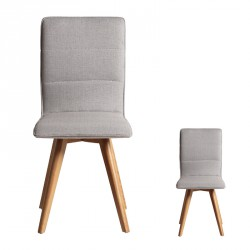 Duo de chaises Gris clair - ALVIN