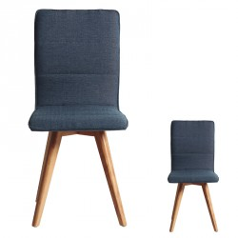 Duo de chaises Bleu - ALVIN