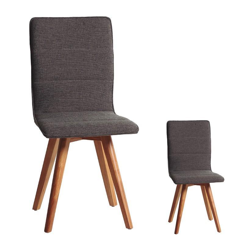 Duo de chaises Gris - ALVIN