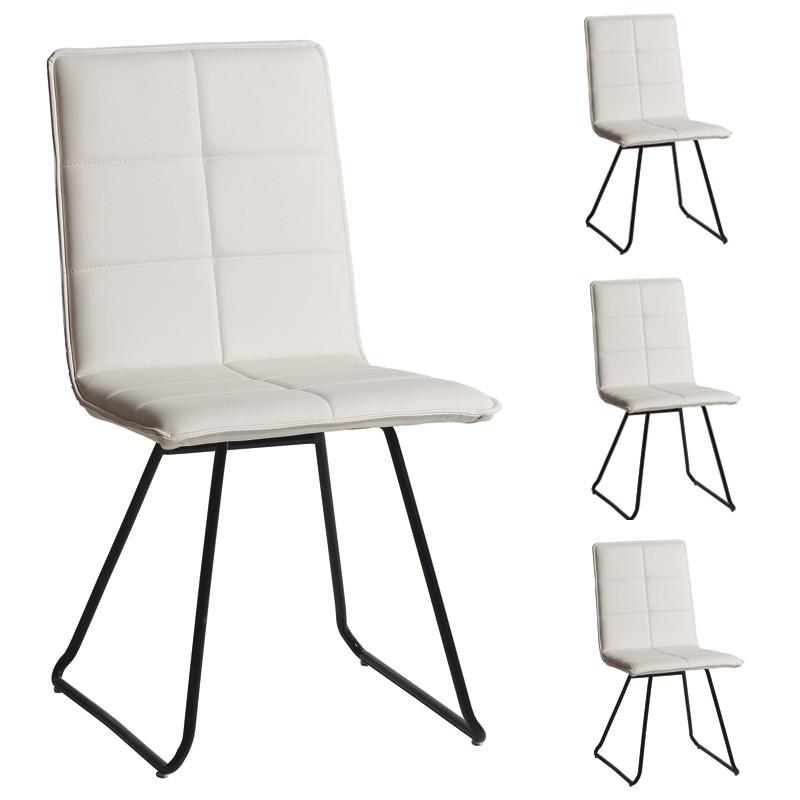 Quatuor de chaises Blanches - OSIRIS