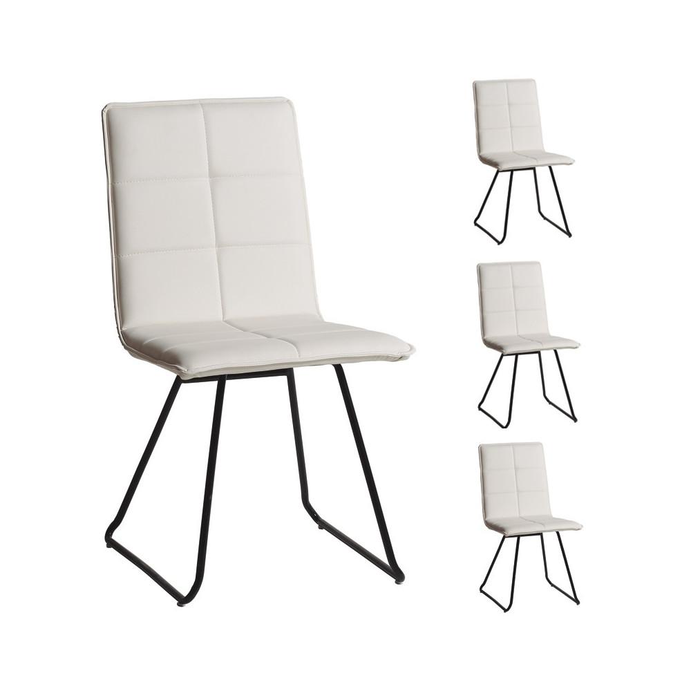 Quatuor de chaises Blanc - OSIRIS