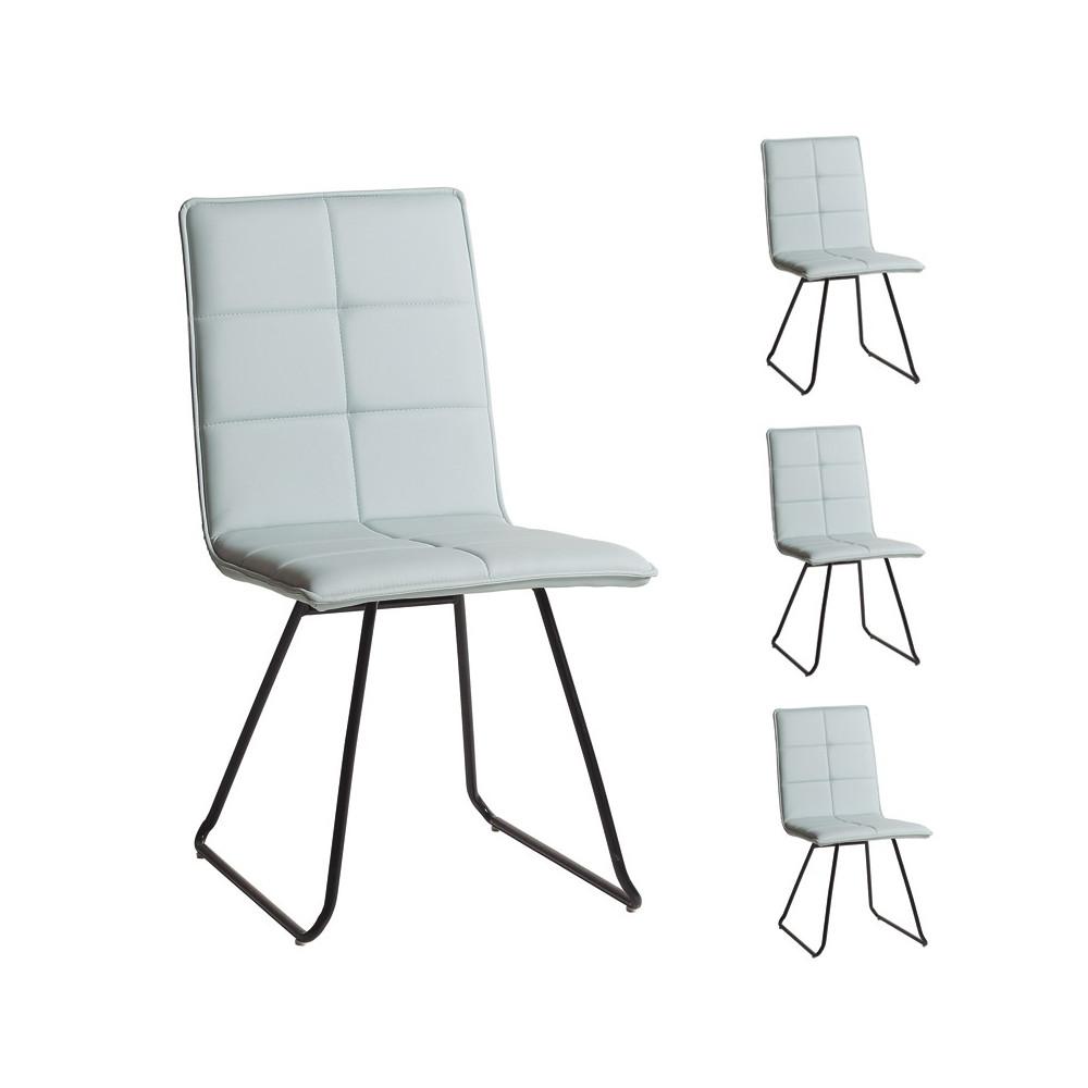 Quatuor de chaises bleu pastel - OSIRIS