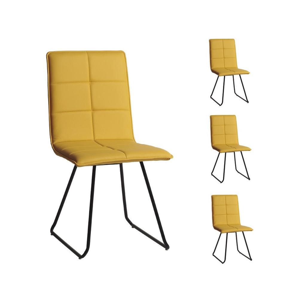 Quatuor de chaises Jaunes - OSIRIS
