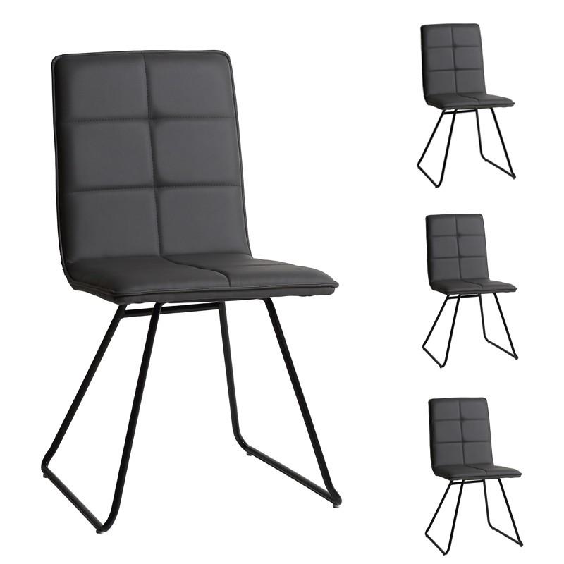 Quatuor de chaises Grises - OSIRIS