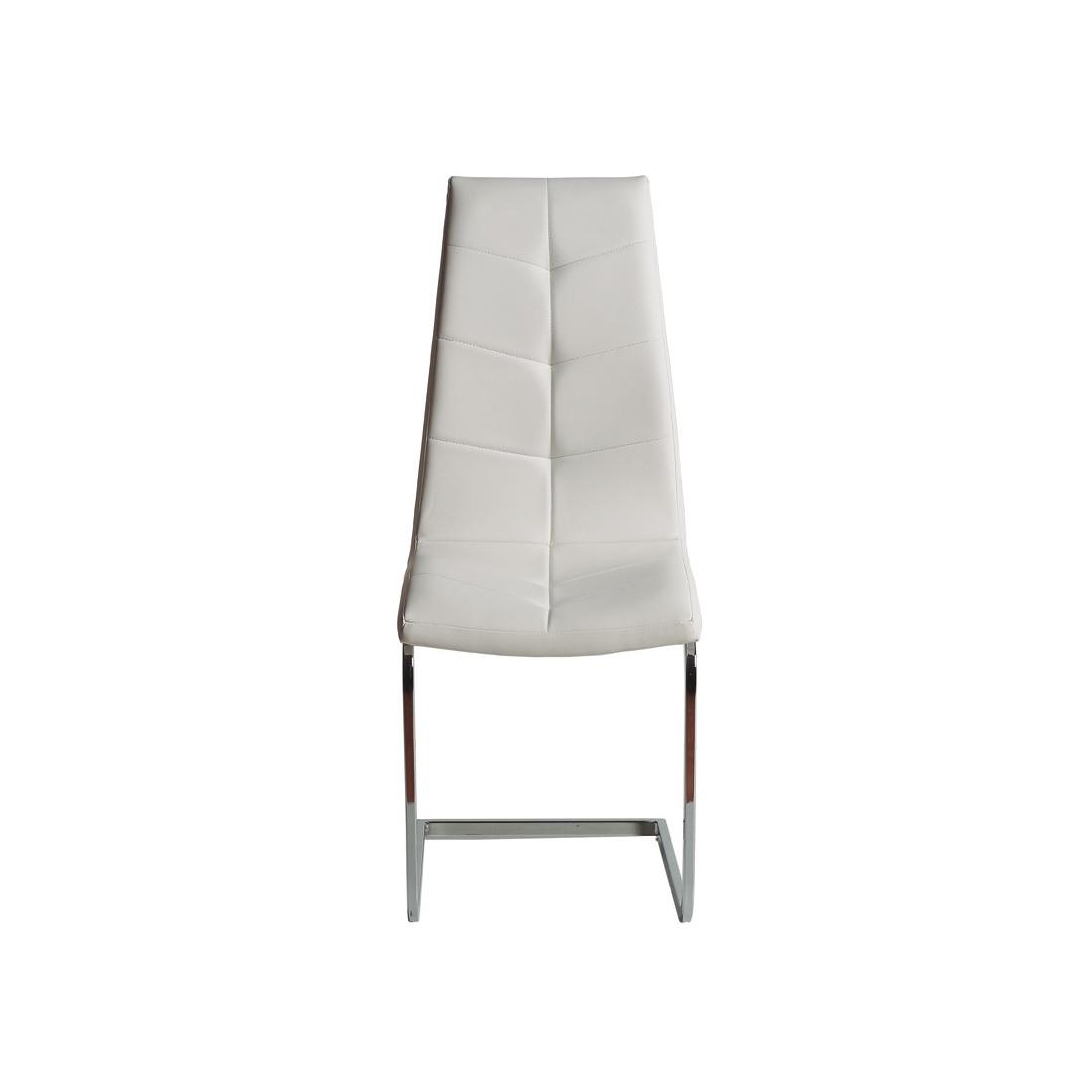 duo de chaises simili cuir blanc spartacus tousmesmeubles. Black Bedroom Furniture Sets. Home Design Ideas