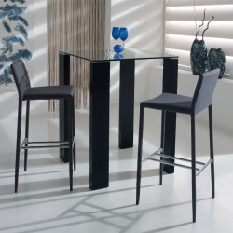 Table haute noir - GRISSAM