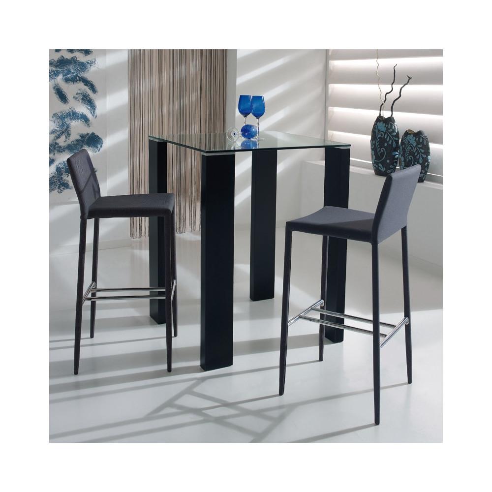 Table Carrée Mange debout Noir - GRISSAM