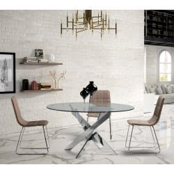 Table de repas chrome - FALSSOU