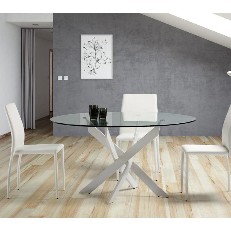 Table de repas blanche - FALSSOU