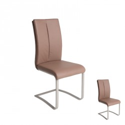 Duo de chaises Cappuccino JULY - Univers Assises et Salon : Tousmesmeubles