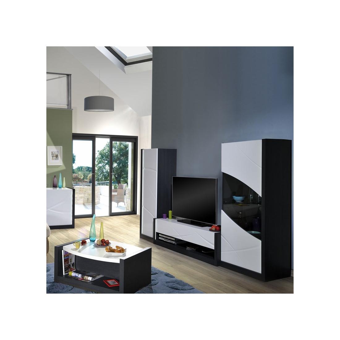 Meuble tv 1 tiroir touche l che leds eclypse univers for Meuble tiroir salon
