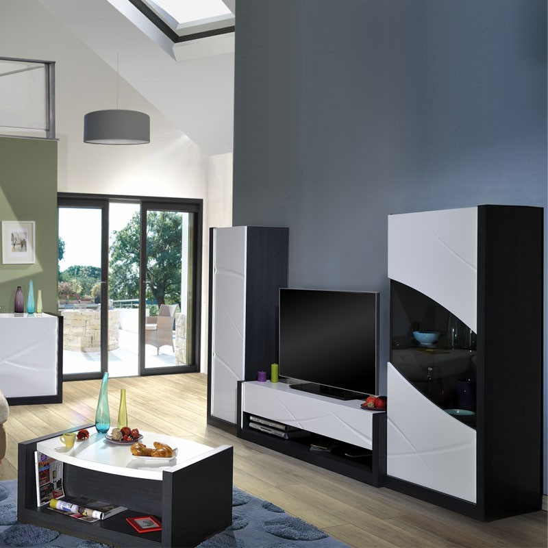 armoire de salon 1 porte touche l che leds eclypse univers salon. Black Bedroom Furniture Sets. Home Design Ideas
