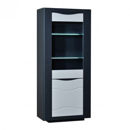 Armoire de salon moderne led 39 s 2 portes n 2 onix univers du salon - Armoire de salon en bois ...