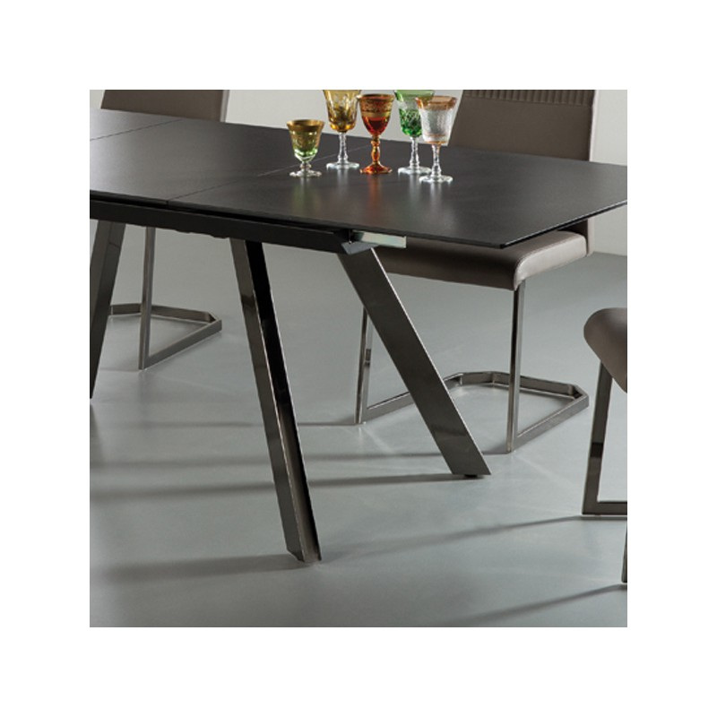table de repas c ramique noire hublin univers salle manger. Black Bedroom Furniture Sets. Home Design Ideas