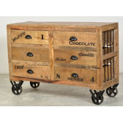 Commode 6 tiroirs sur roulettes - GROCERY