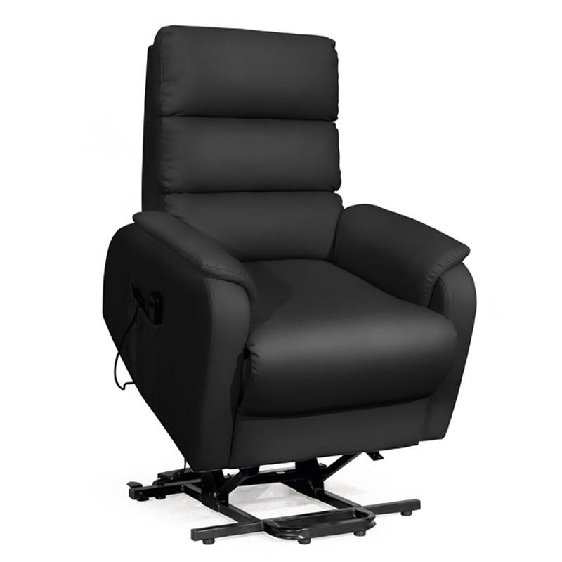 Fauteuil de relaxation Releveur Simili cuir Noir - VERSO