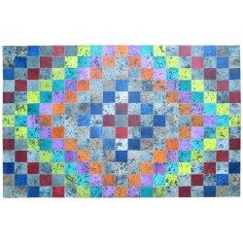 Tapis peau de vache patchwork multicolore 200x300 - MEUH