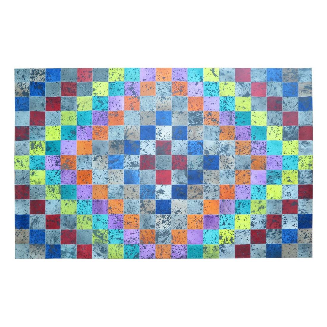 tapis peau de vache patchwork multicolore 200x300 meuh. Black Bedroom Furniture Sets. Home Design Ideas